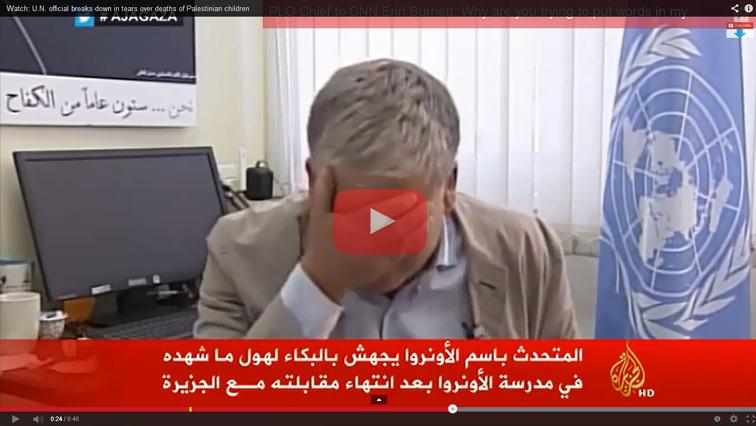 (Vídeo) Portavoz de la ONU rompe a llorar al ser preguntado por la masacre de niños en Gaza