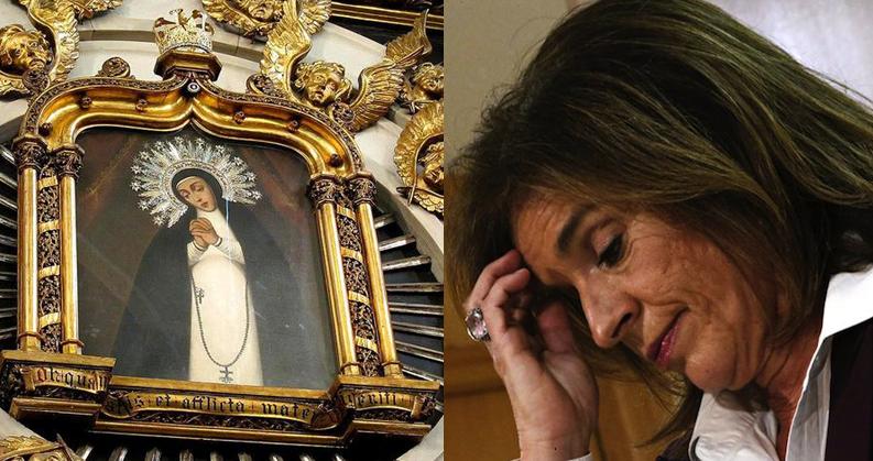 Botella sigue los pasos de Báñez y pide trabajo a la Virgen de la Paloma