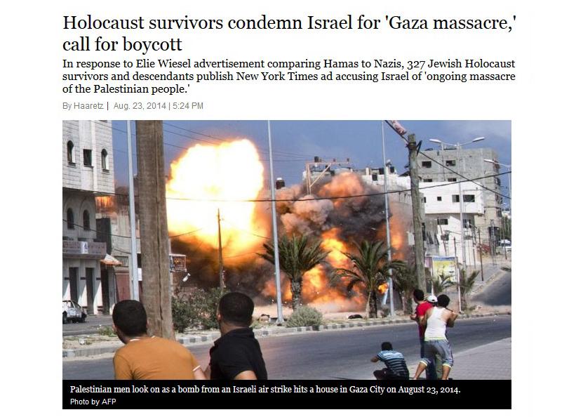 Cientos de supervivientes del Holocausto judío llaman en una carta al boicot contra Israel por el genocidio palestino