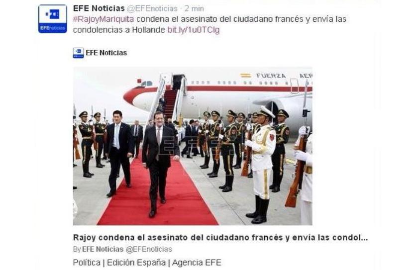 Una metedura de pata de la agencia de noticias EFE convierte #RajoyMariquita en 'trending topic' de Twitter