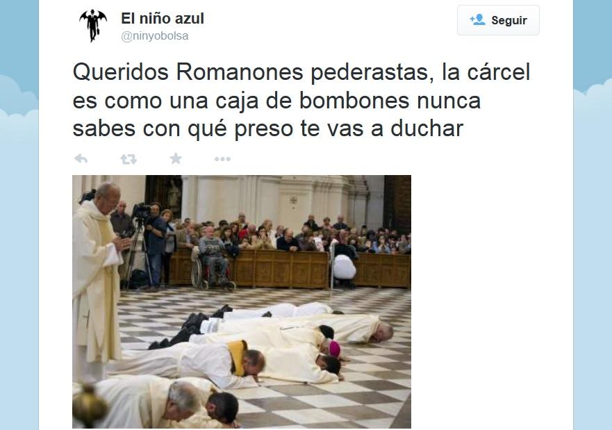 Indignación en Twitter ante el gesto arrepentido del arzobispo de Granada por encubrir la pederastia