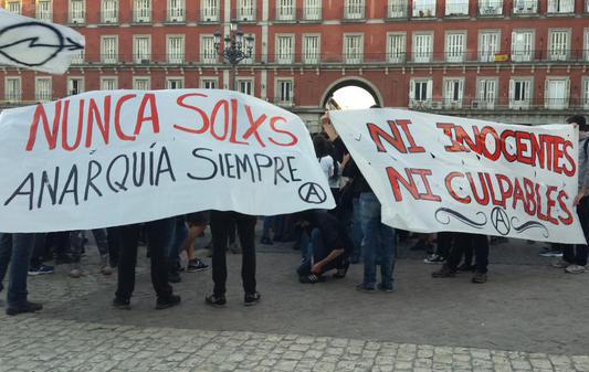 Se expande la solidaridad en varias ciudades por los detenidos libertarios